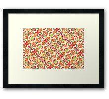 Colorful Tribal Pattern Framed Print