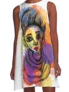 rock girl A-Line Dress