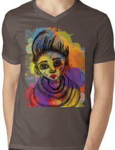 rock girl Mens V-Neck T-Shirt