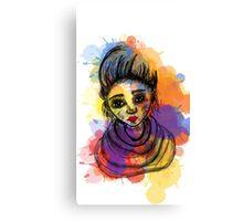 rock girl Canvas Print