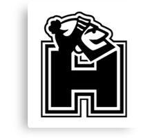 Langley Humans - black logo Canvas Print