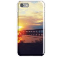 Sunset from a moving train iPhone Case/Skin