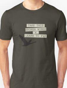 The Beatles Blackbird Song Lyrics 60s Rock Music Paul McCartney Unisex T-Shirt