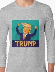 cartoon of USA Republican presidential candidate Donald Trump Long Sleeve T-Shirt