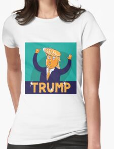 cartoon of USA Republican presidential candidate Donald Trump Womens Fitted T-Shirt