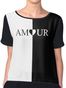 AMOUR black and white design Chiffon Top