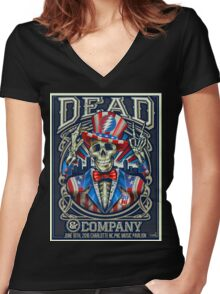 DEAD&COMPANY SUMMER TOUR 2016 PNC MUSIC PAVILIO NEW Women's Fitted V-Neck T-Shirt
