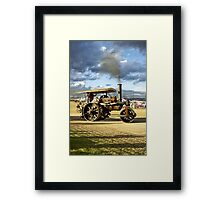 "Fowler 8-ton Steam Road Roller No.18874 ""Lord Jellicoe"" Framed Print"