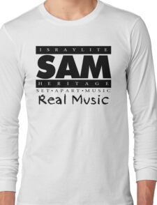 SAM REAL MUSIC  BLACK Long Sleeve T-Shirt