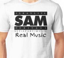 SAM REAL MUSIC  BLACK Unisex T-Shirt