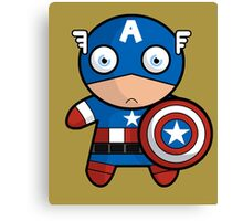 Baby Captain America Canvas Print