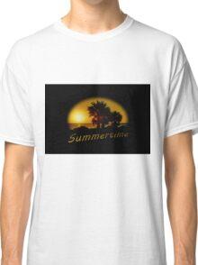 Sunset Scene at the Coast of Montevideo Uruguay Classic T-Shirt