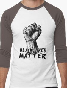 Black Lives Matter Race Unity Say No Racism T-shirt Men's Baseball ¾ T-Shirt