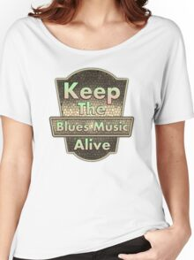 Keep the blues Women's Relaxed Fit T-Shirt