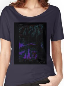 USGS TOPO Map Alaska AK Anchorage A-1 353938 1960 63360 Inverted Women's Relaxed Fit T-Shirt