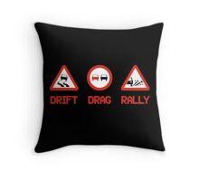 Drift Drag Rally (3) Throw Pillow