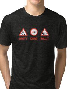 Drift Drag Rally (3) Tri-blend T-Shirt