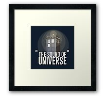 The Sound of Universe Framed Print