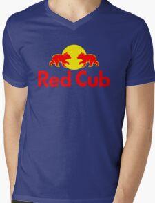 Red Cub Mens V-Neck T-Shirt