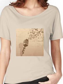Music micro design Women's Relaxed Fit T-Shirt