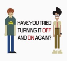 Have You Tried Turning It Off and On Again? - Black Font by ScottW93
