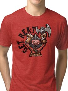 Get Rekt Axe Tri-blend T-Shirt