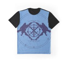 Strength of the Wolf [D.Blue on L.Blue] Graphic T-Shirt