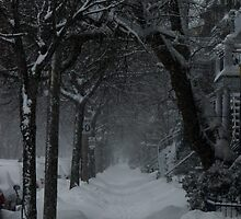 Winter Scene in Montreal by michel bazinet