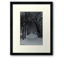 Winter Scene in Montreal Framed Print