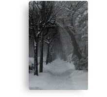Winter Scene in Montreal Metal Print