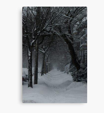 Winter Scene in Montreal Canvas Print