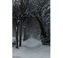 Winter Scene in Montreal Photographic Print