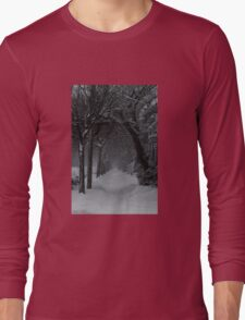 Winter Scene in Montreal Long Sleeve T-Shirt