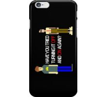 Have You Tried Turning It Off and On Again? - White Font iPhone Case/Skin