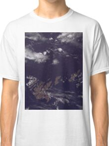 Faroe Islands Denmark Satellite Image Classic T-Shirt