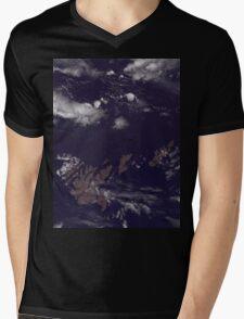 Faroe Islands Denmark Satellite Image Mens V-Neck T-Shirt