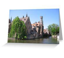 Rozenhoedkaai, Bruges Greeting Card