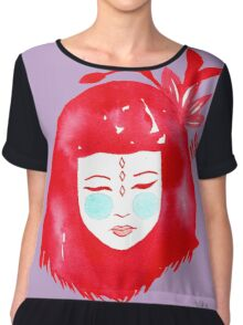 Red hair girl Chiffon Top