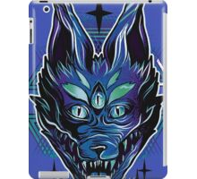 Trippy wolf brutal drawing art iPad Case/Skin
