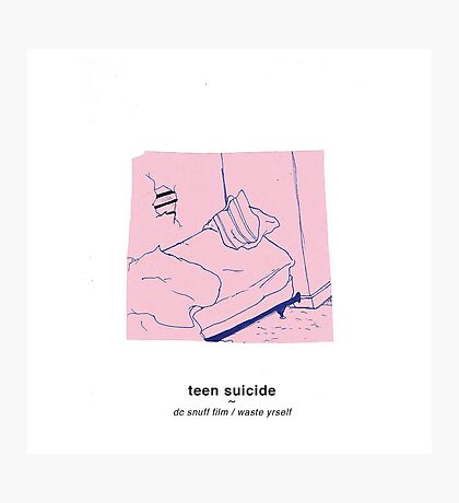 teen suicide - dc snuff film / waste yrself Photographic Print