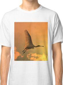 Spoonbill Stork - Sunset Flight of Color - African Wild Birds Classic T-Shirt