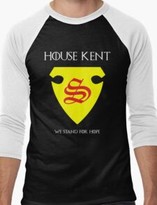 House Kent - Game of Thrones x Superman Mashup Men's Baseball ¾ T-Shirt
