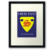 House Kent - Game of Thrones x Superman Mashup Framed Print