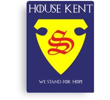 House Kent - Game of Thrones x Superman Mashup Canvas Print