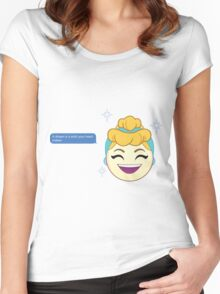 A Dream is a Wish Your Heart Makes Cinderella Women's Fitted Scoop T-Shirt