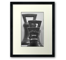 Wait... what weight! Framed Print