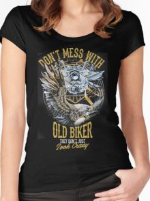 Old biker Women's Fitted Scoop T-Shirt