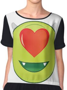Romantic mike Wazowski Chiffon Top