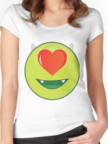Romantic mike Wazowski Women's Fitted Scoop T-Shirt