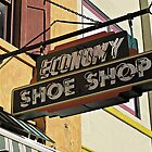Shoe Shop Sign © by Ethna Gillespie